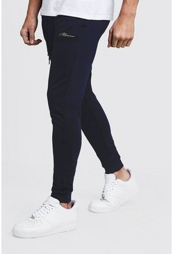 Navy MAN Signature Skinny Fit Jogger