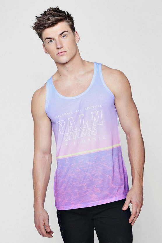 Palm Springs Sublimation Print Vest