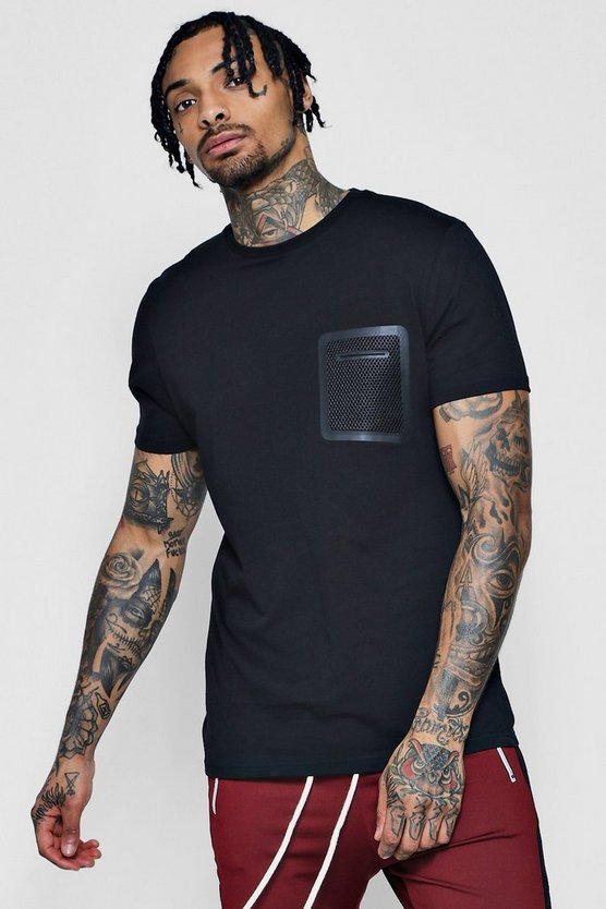Sports T-Shirt With Mesh Pocket