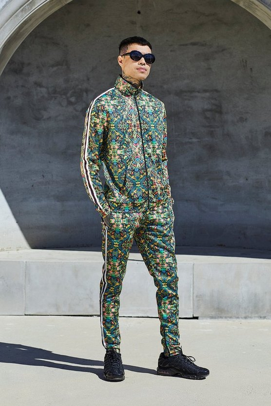 French Montana Tropical Print Co-ord Jogger