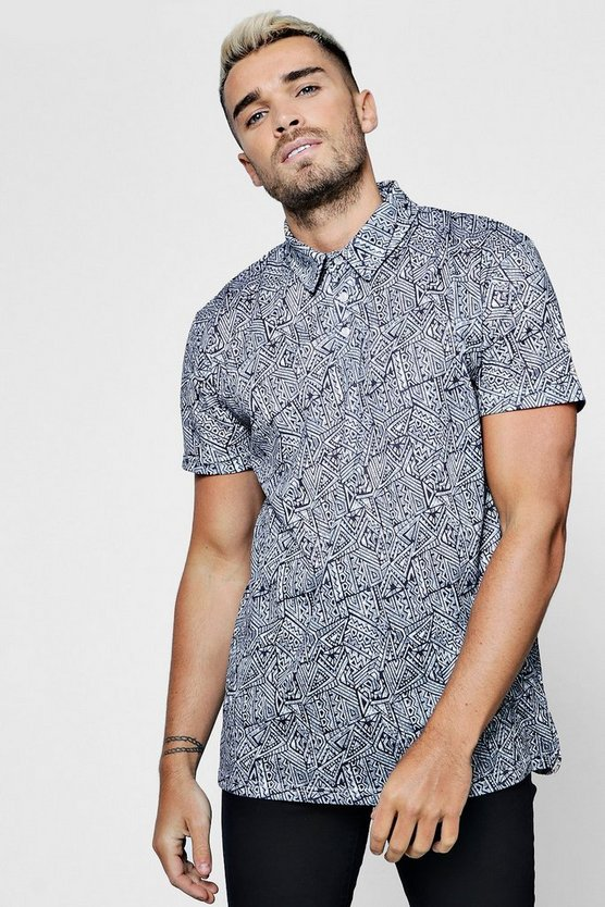 Sublimation All Over Print Short Sleeve Polo