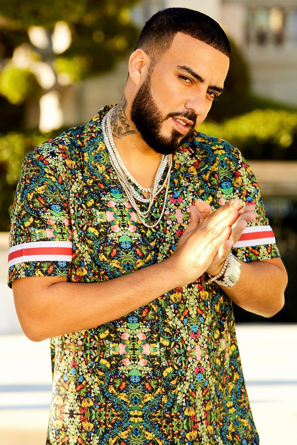 French Montana Tropical Print Shirt Co Ord Boohoo