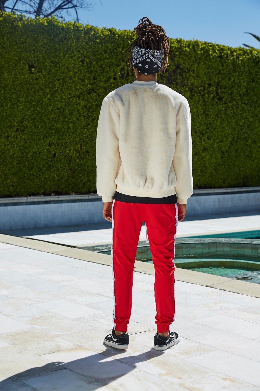 skinny correr de French hombre rojo de Pantalones súper de wzxRqSx7