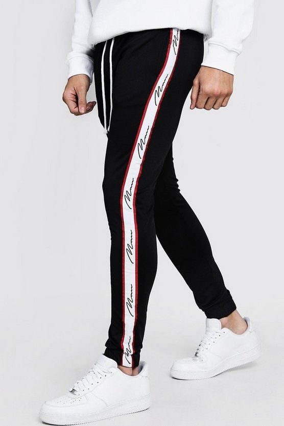 Jogging super skinny à bandes French pour HOMME