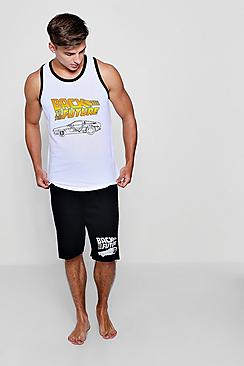 Back To The Future Vest And Shorts Lounge Set