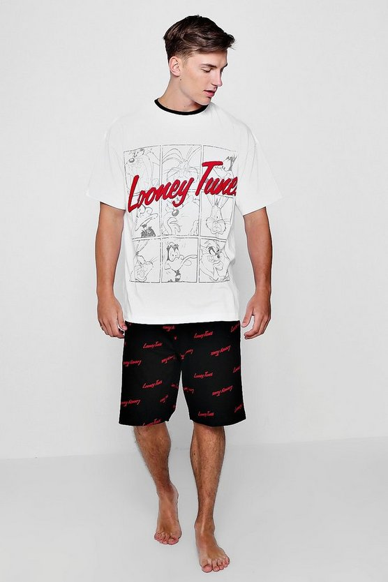 Looney Tunes Oversized T-Shirt And Short Lounge Set
