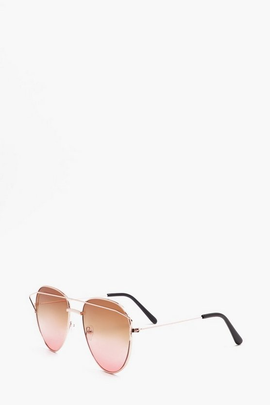 Aviator Sunglasses With Pink Lens