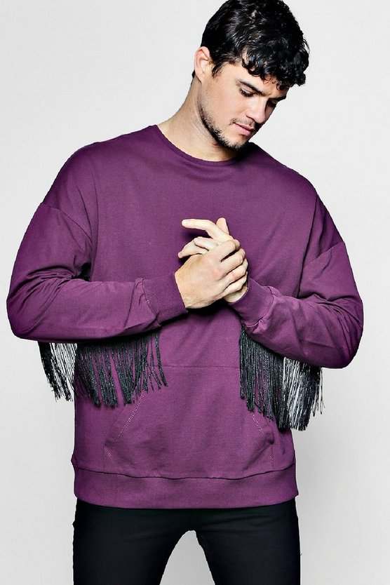 Kangaroo Sweater With Tassels