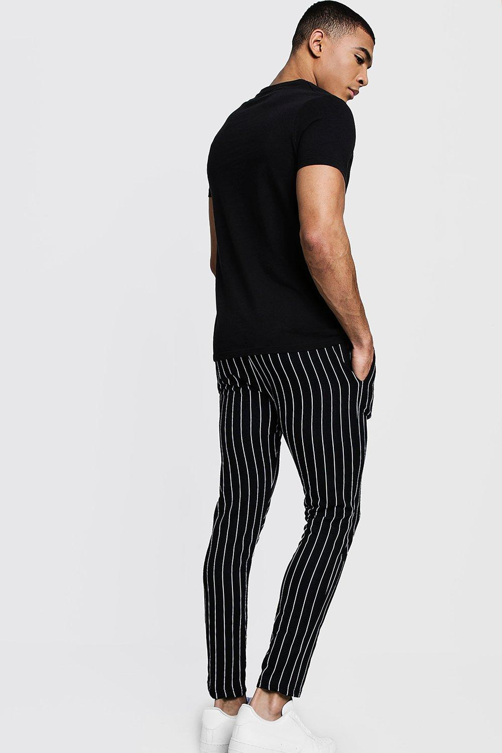 Joggers Striped black Skinny black Fit Striped Fit Joggers Skinny Skinny Striped Fit RqxS6x7wvH
