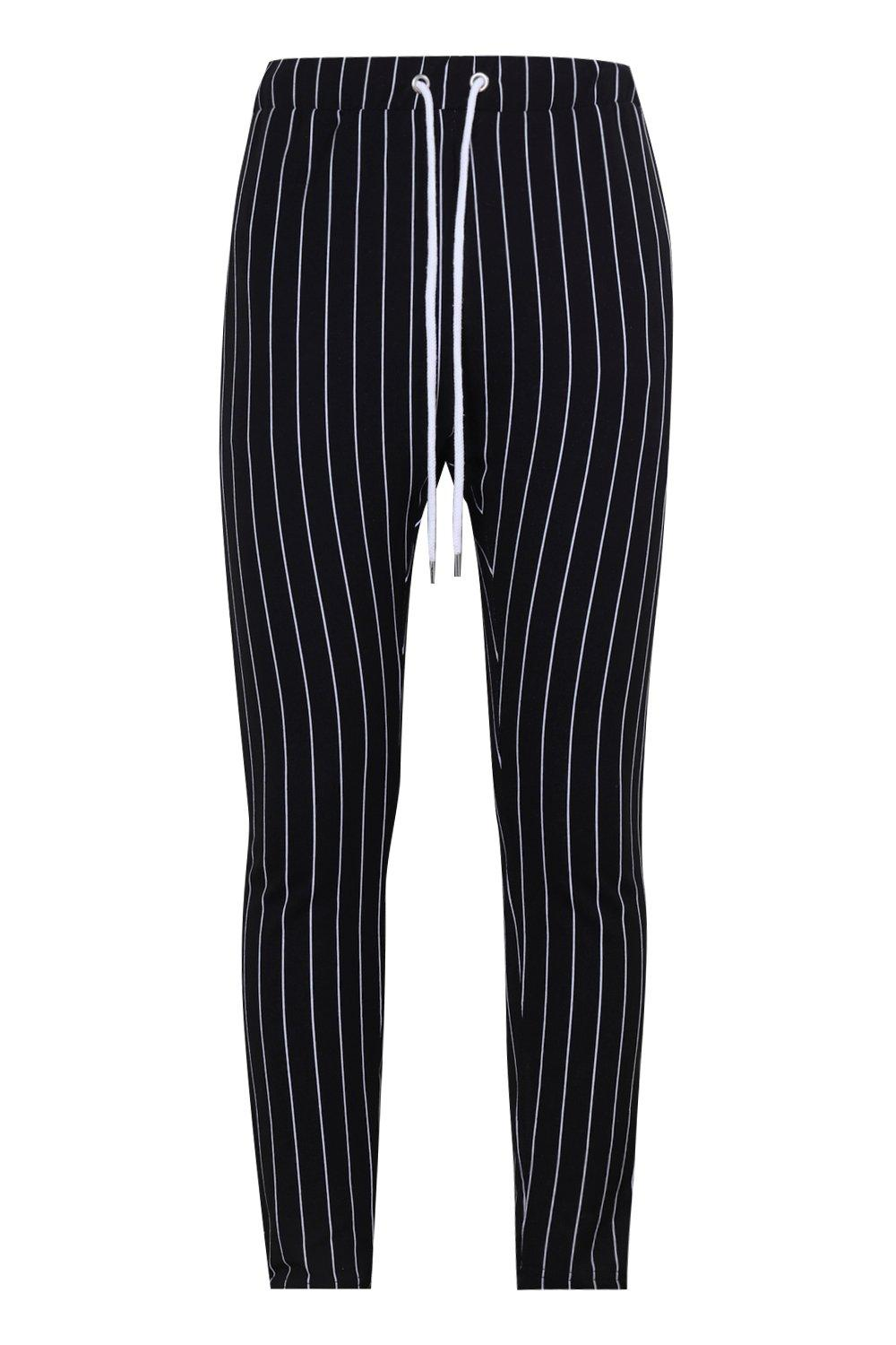 Skinny Striped Skinny Fit black Joggers Fit aSx07wq5