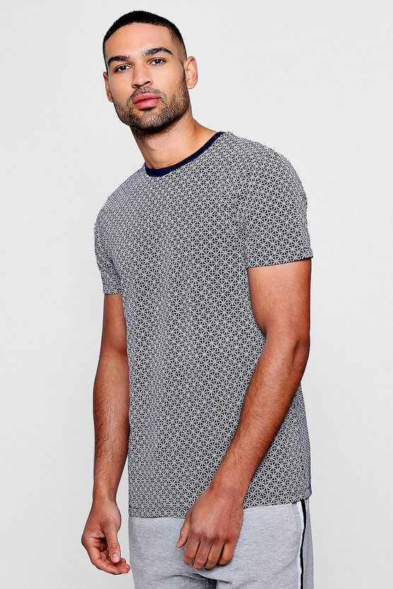 All Over Geo Print T-Shirt