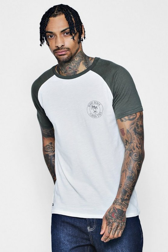 Palm Print Raglan T-Shirt
