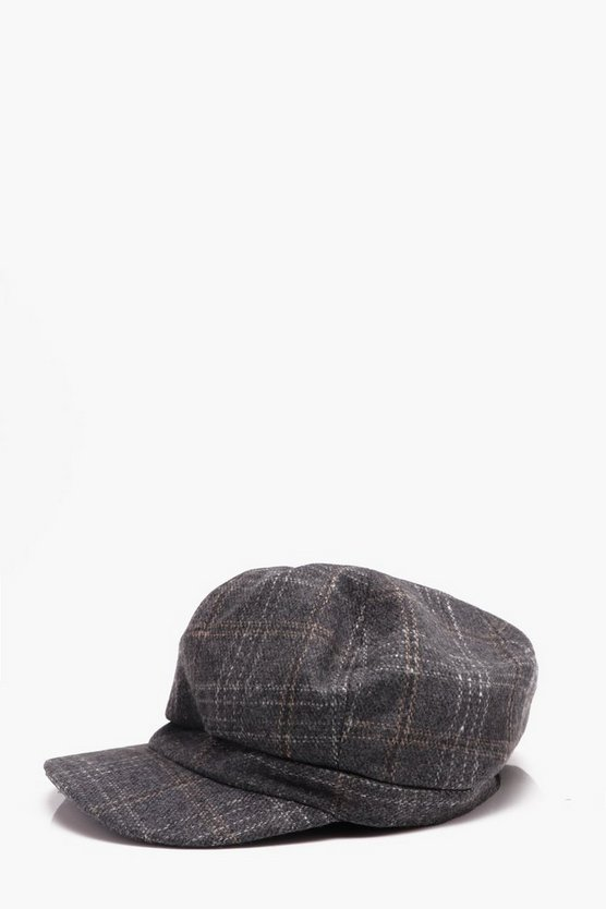 Checked Baker Boy Cap