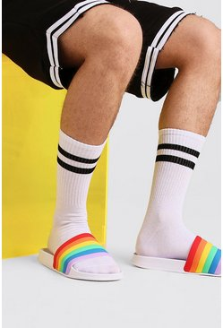 Pride Rainbow Slider, Multi, Uomo