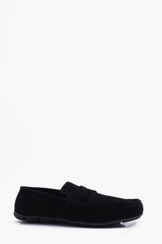 Real Suede Driving Loafer