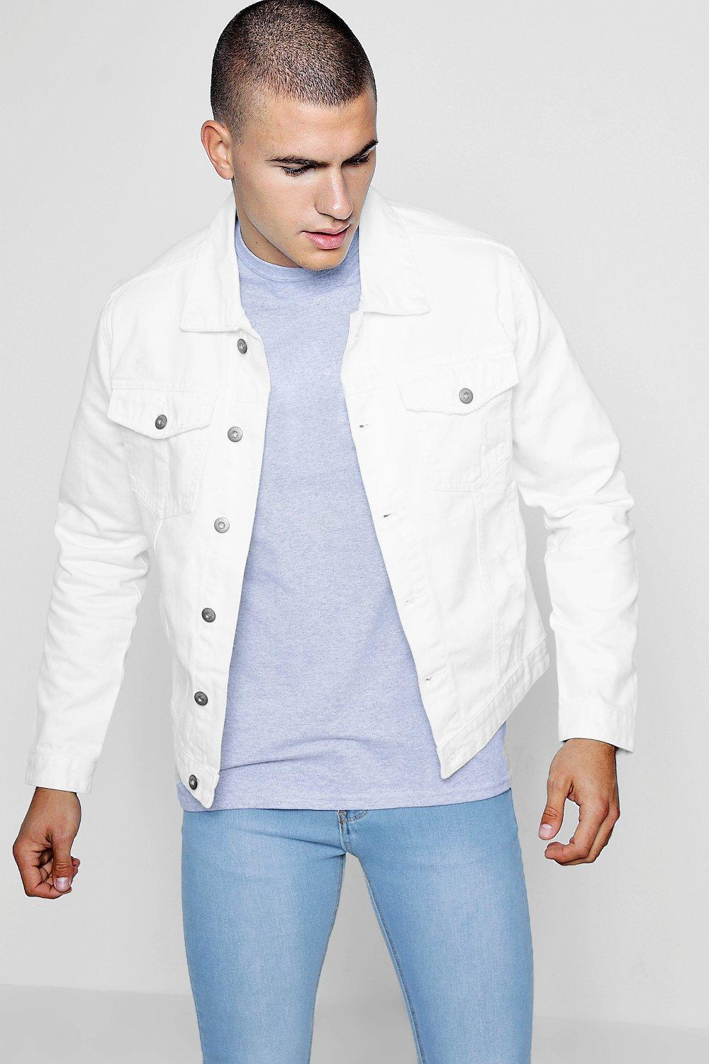 good quality cheap super cute White Distressed Denim Jacket | boohoo