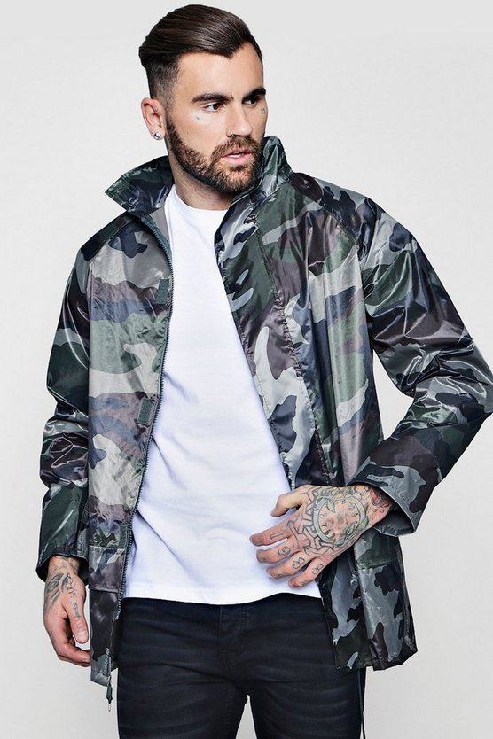 Camouflage Water Resistant Jacket