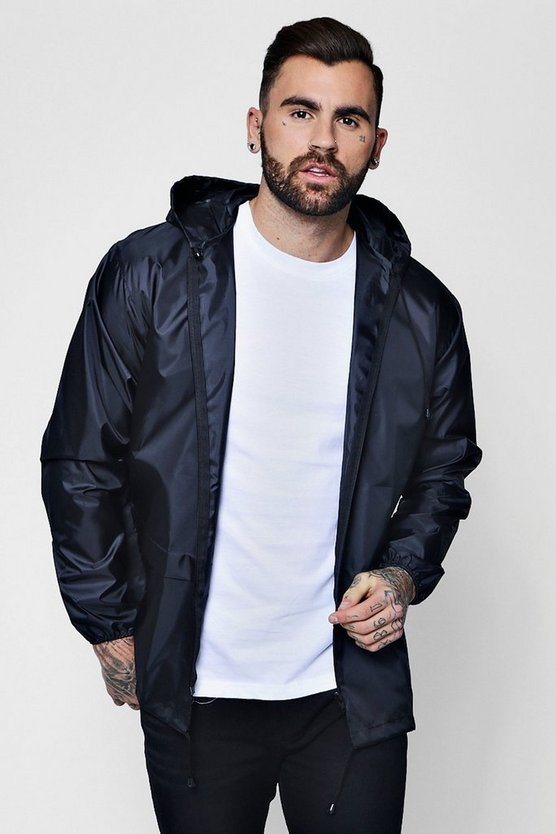 Lightweight Zip Through Hooded Cagoule