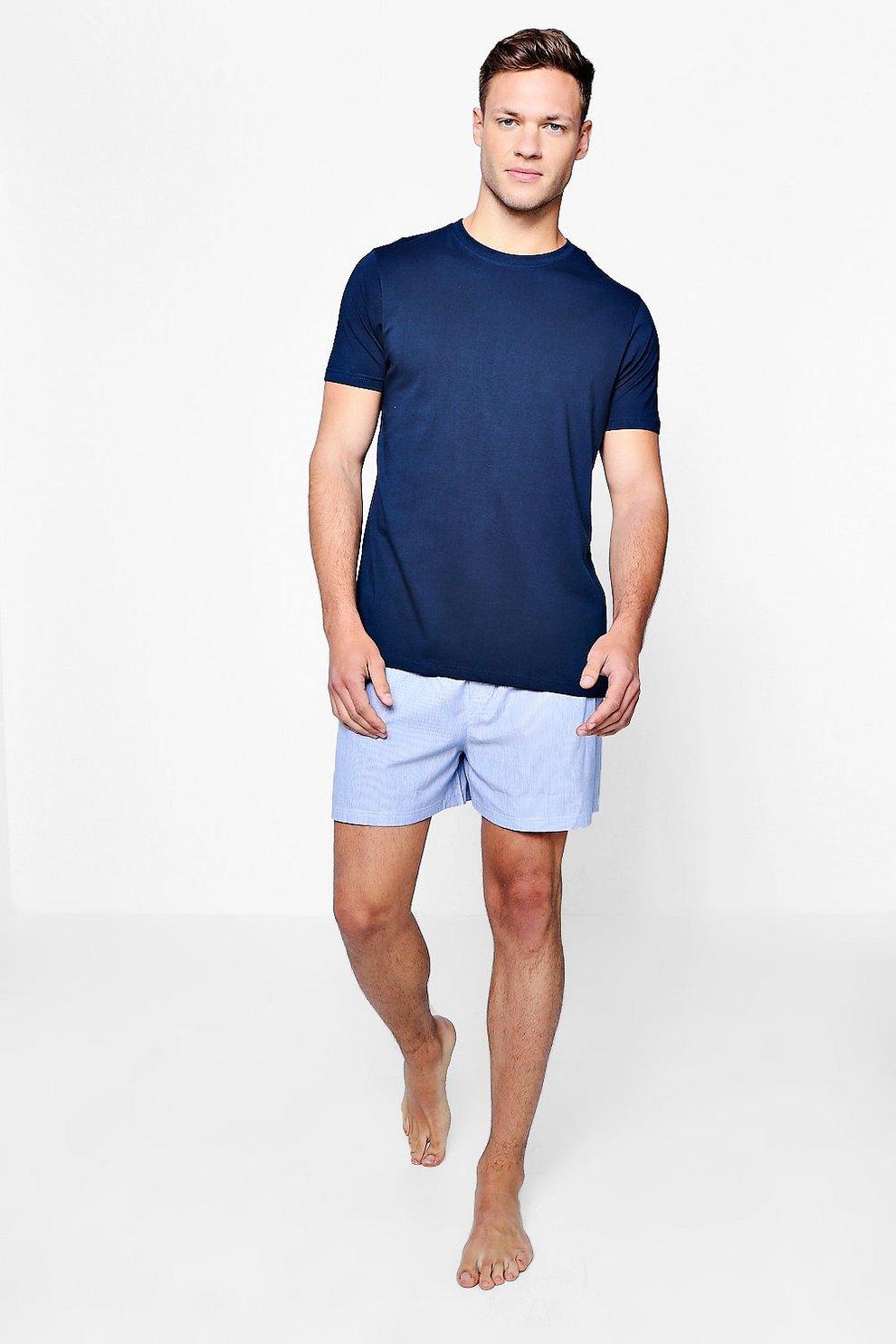 fcdd9a4987699 Ensemble de pyjama t-Shirt & short tissé homme | Boohoo