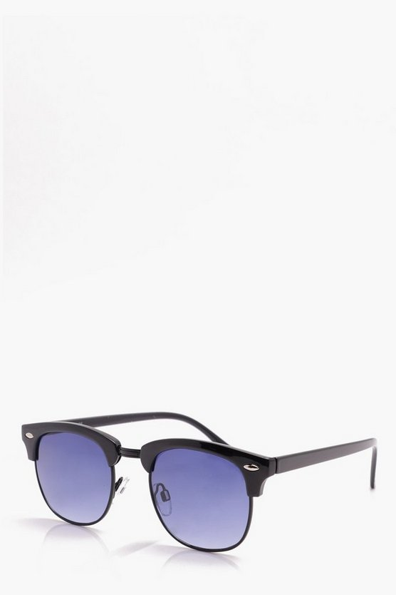 Retro Sunglasses With Blue Gradient Lens