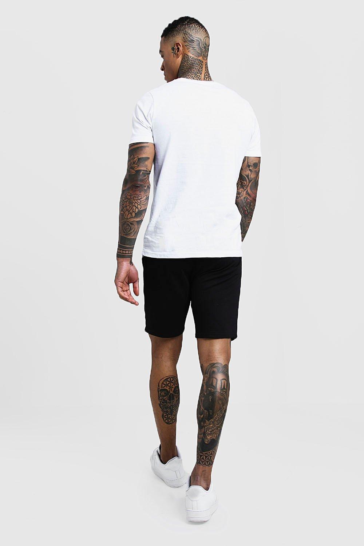 de altura de cortos media negro punto Pantalones P8nqaa