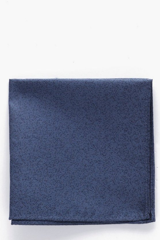Mens Blue Plain Pocket Square