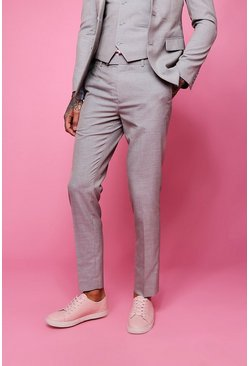 Skinny Fit Plain Suit Trouser, Biscuit, МУЖСКОЕ