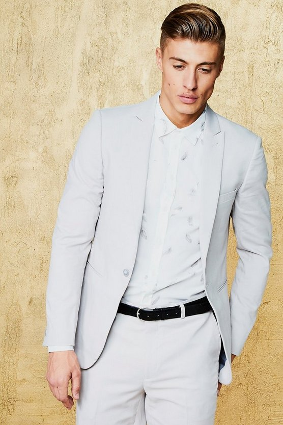 Plain Skinny Fit Suit Jacket