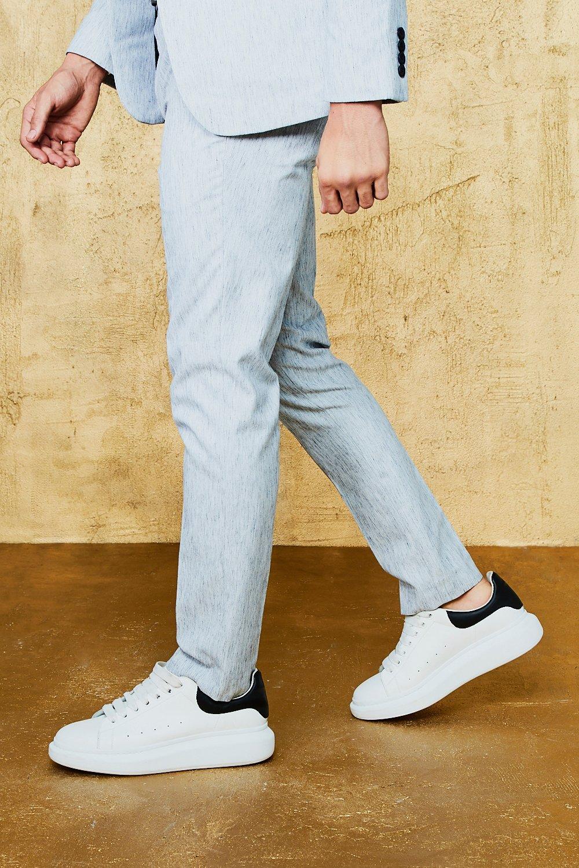 7f168a30bd Herringbone Skinny Fit Suit Trouser | Boohoo