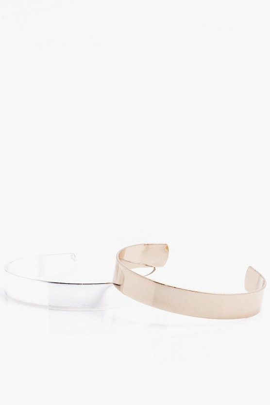 2 Pack Mixed Metal Bangles