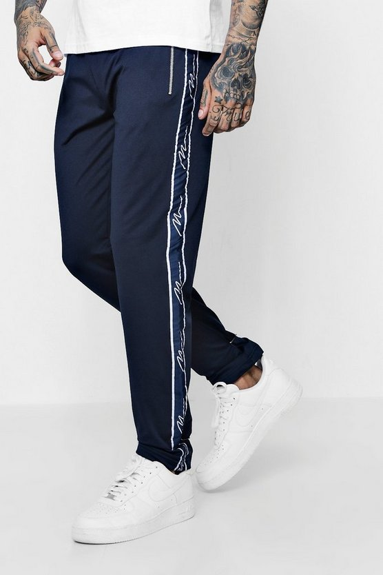 Skinny Fit MAN Signature Joggers In Tricot