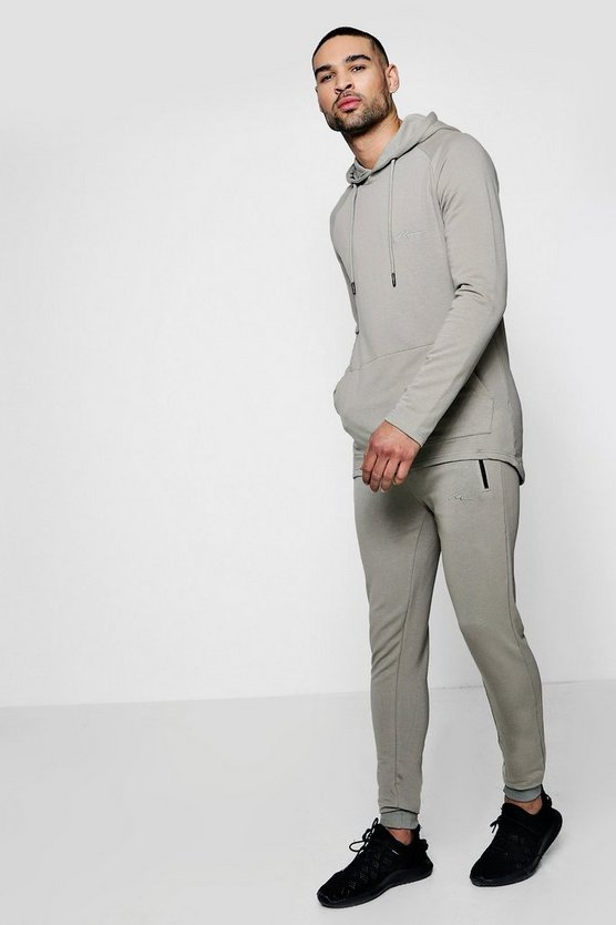 MAN Signature Muscle Fit Hooded Tracksuit