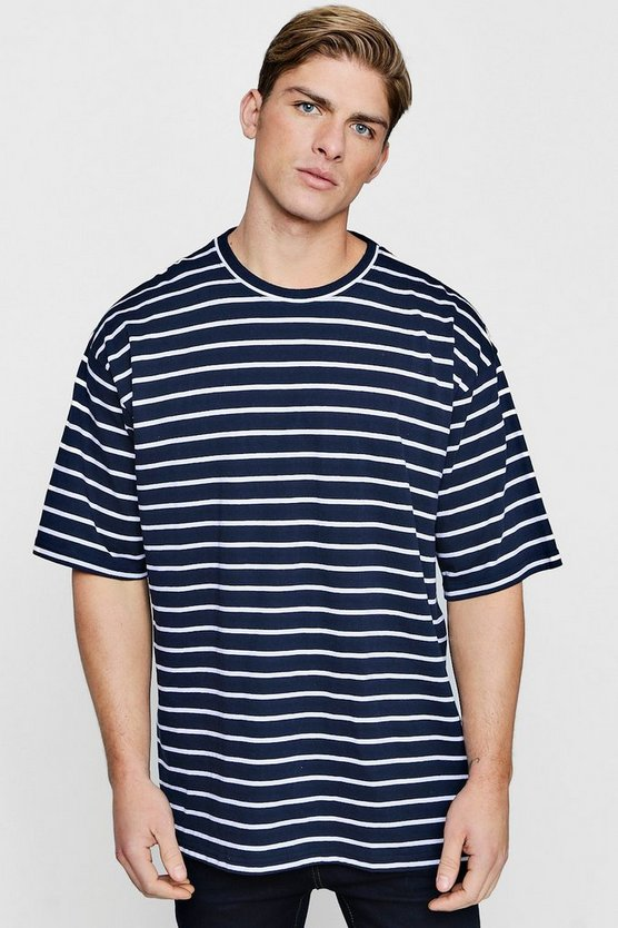 Oversized Yarn Dye Stripe T-Shirt