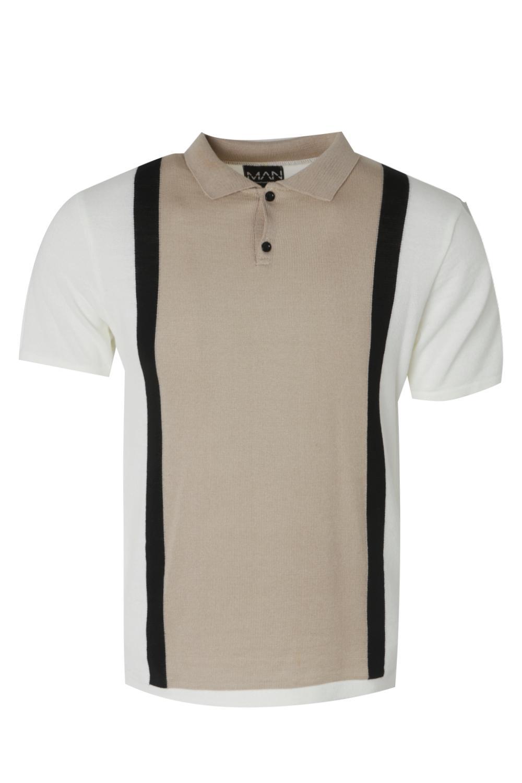Boohoo-Colour-Block-Short-Sleeve-Knitted-Polo-para-Hombre
