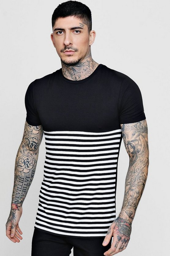 Half Stripe T Shirt