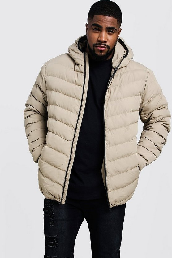 Big And Tall Quilted Zip Through Jacket