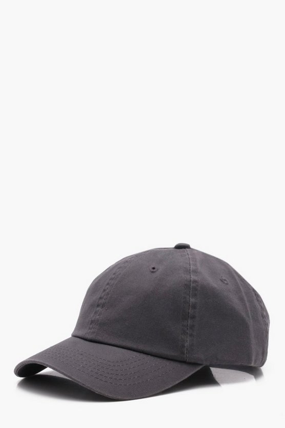 Mens Grey Enzyme Wash Cap