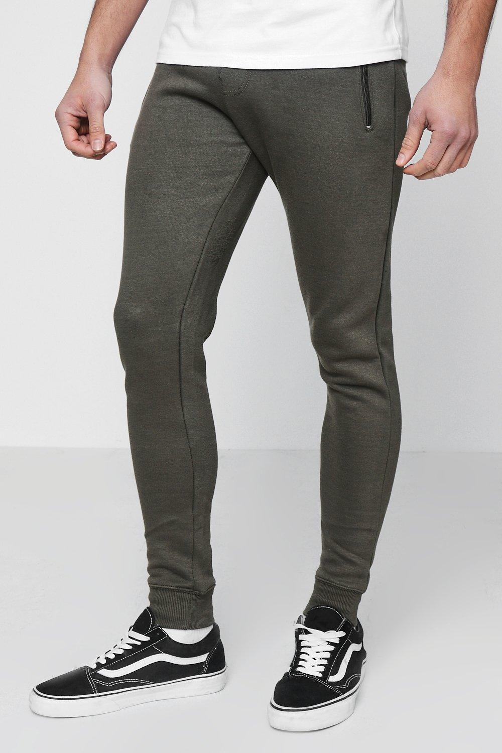 Waist khaki Jogger Band Skinny Fit Contrast With 1TIwxFzq