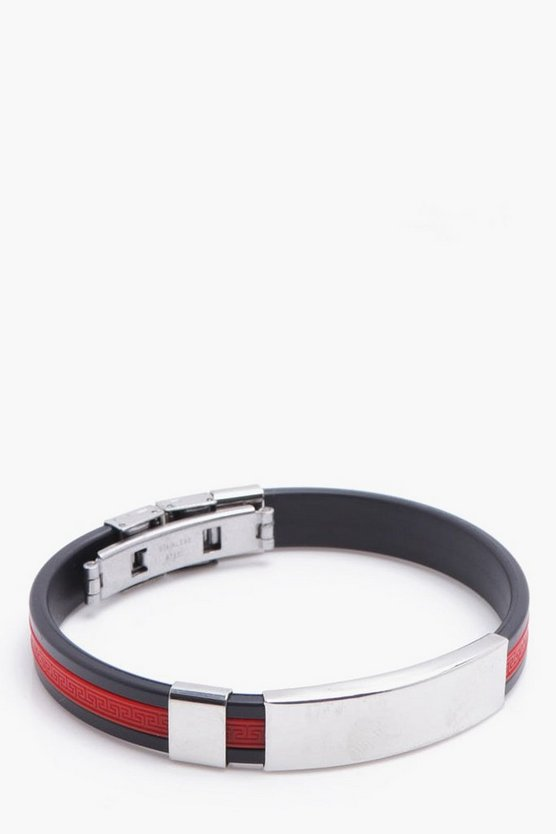 Red Stripe ID Bracelet