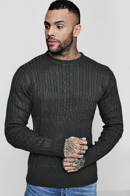 Fine Knit Cable Jumper