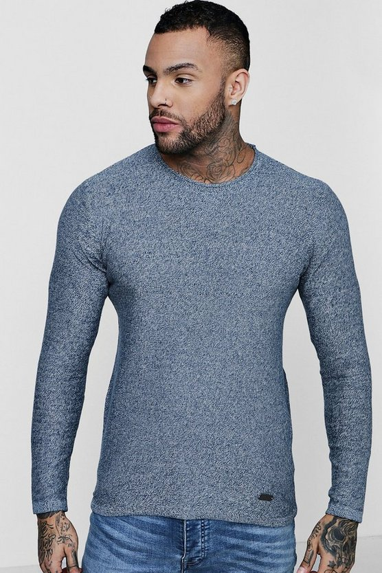 Mini Roll Neck Marl Jumper