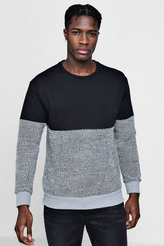Knitted Colour Block Sweater