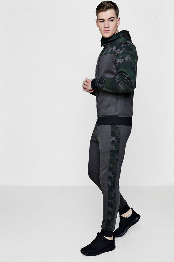 Star Camo Colour Block Super Skinny Fit Tracksuit
