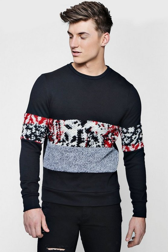 Wool Panelled Sweater