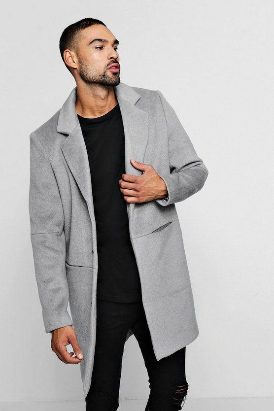 Smart Brushed Wool Overcoat