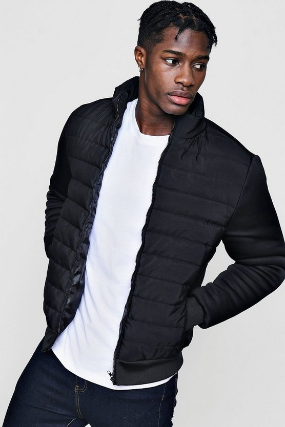 Quilted Ponte Sleeve Jacket