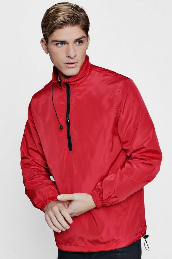 Funnel Neck Half Zip Windbreaker