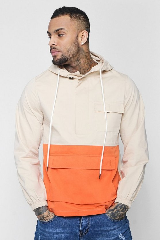 Colour Block Hooded Cagoule