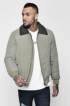 borg collar peached bomber