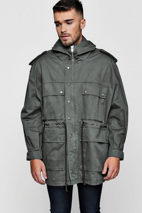 4 Pocket Hooded Field Jacket